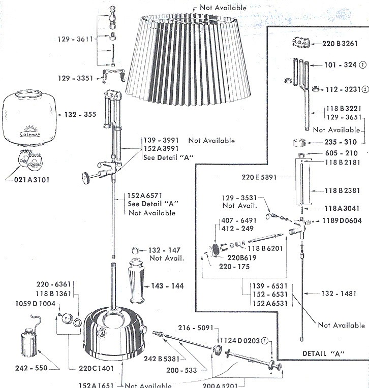 Oldcolemanparts parts diagrams 152 lamp mozeypictures Images