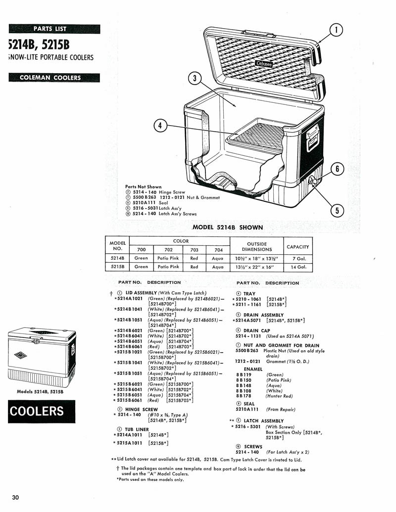 Oldcolemanparts parts diagrams 5214b cooler geotapseo Choice Image