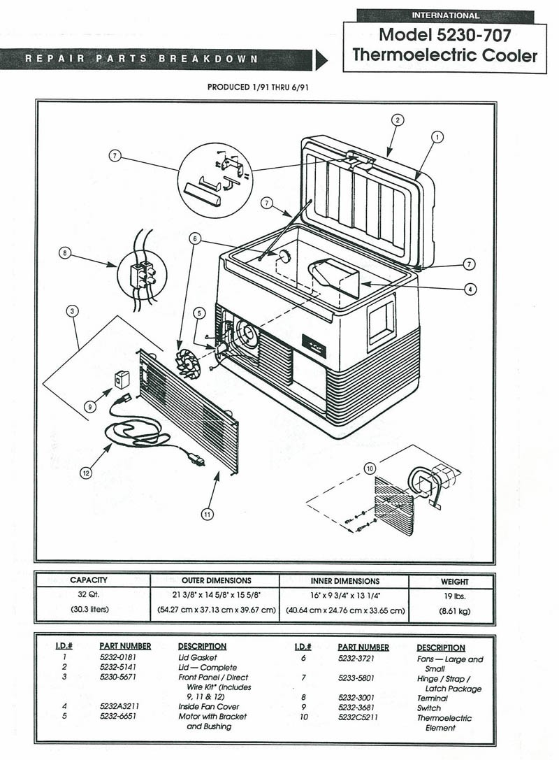 Parts Diagrams Cooler Wiring Diagram 5230 707 Thermoelectric