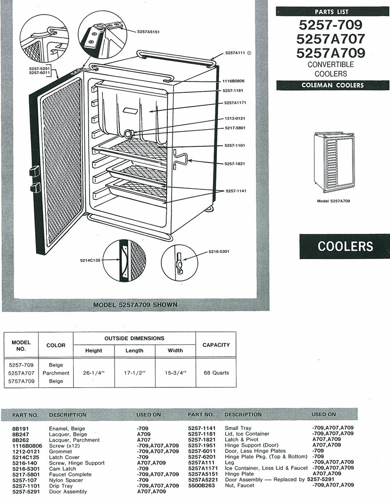 original cooler for 1984 coleman sun valley | popupportal beverage air cooler wiring diagram
