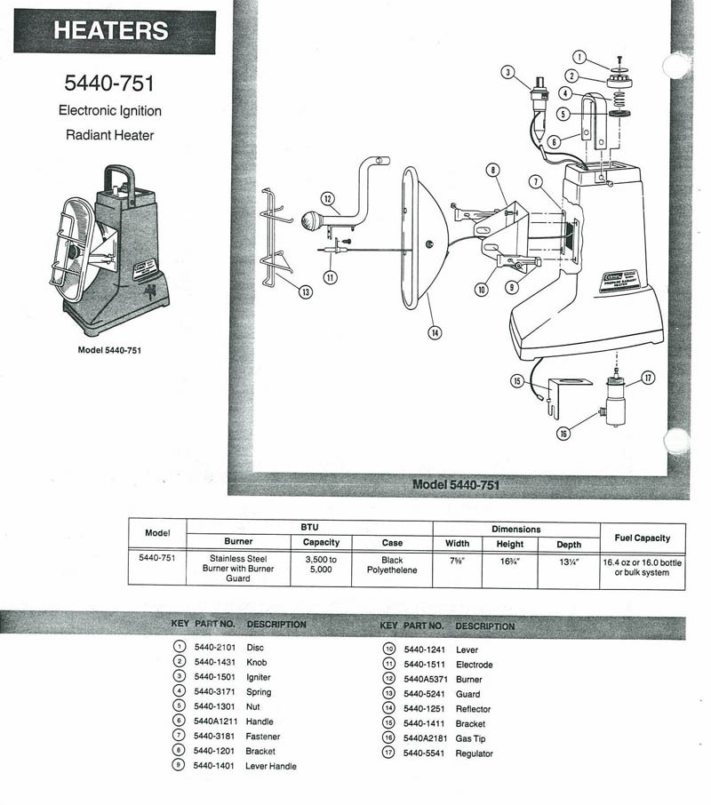 Oldcolemanparts Com Parts Diagrams